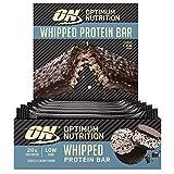 OPTIMUM NUTRITION ON Whipped Bar, Barritas Proteínas con Cobertura de Chocolate con Leche, Bajo en Azúcar, Galletas y Crema, 10 Barras (10 x 62 g)