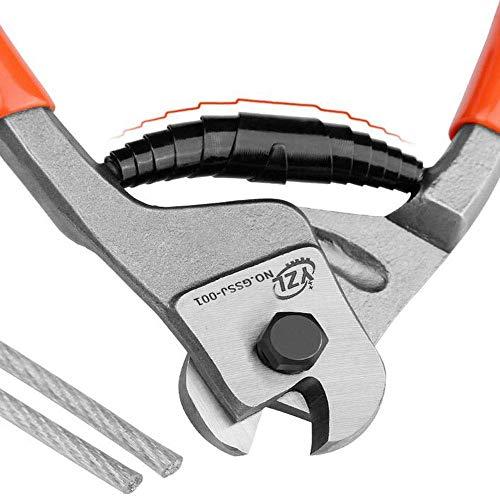 JIAHONG Alicates Conveniente for el hogar de reparación y reparación de las máquinas al aire libre, de 8 pulgadas multi-función de corte del alambre corto Juego de alicates (Color: Rojo, Tamaño: 8 pul