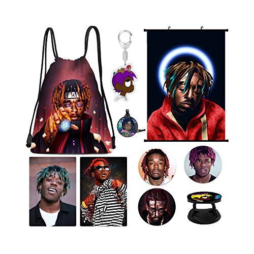 Lil Uzi Vert Merch, Lil Uzi Vert Poster, Kartenaufkleber, Rucksack, Brosche, Halskette, Handyhalter, Poster, NEU (Schwarz) - lil uzi vert set