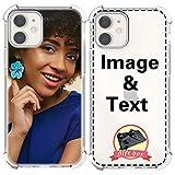 AIPNIS Coque Téléphone Personnalisée Compatible avec iPhone 12/12 Pro, Photo ou Texte...