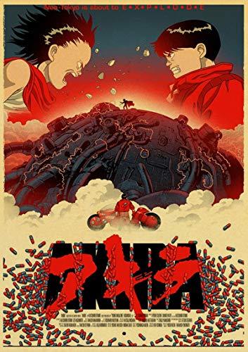 WPLSKY Anime japonés Vintage Akira póster de Lienzo Retro Mural clásico Lienzo...