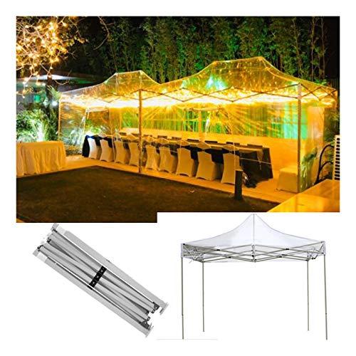 GDMING Transparente Gazebo Plegable Pop-Up con Estructura De Acero De Alta Resistencia, Impermeable Y Anti-UV Plegable Toldo, para Al Aire Libre Jardín Pabellón, 6 Tamaños