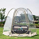 Alvantor Winter Screen House Room Camping Tent Canopy Gazebos 4-6 Person for Patios, Large Oversize Weather Pod, Premium Greenhouse Instant Pop Up Tent, Snow and Rain Protection Beige 10'×10'