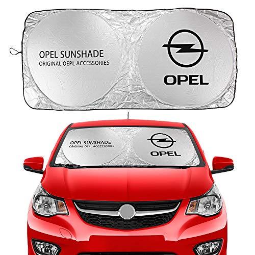 ZKL shop Parasoles de Coche para Opel Astra J H G Mokka Insignia Corsa OPC Vectra Mokka MERIVA TIGRA Zafira Coches DE AUTERIENTE SUNSHAIES Cubiertas Accesorios Auto Parasoles de Parabrisas