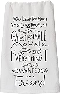 Primitives by Kathy LOL Made You Smile Dish Towel, 28-Inch by 28-Inch, Questionable Morals