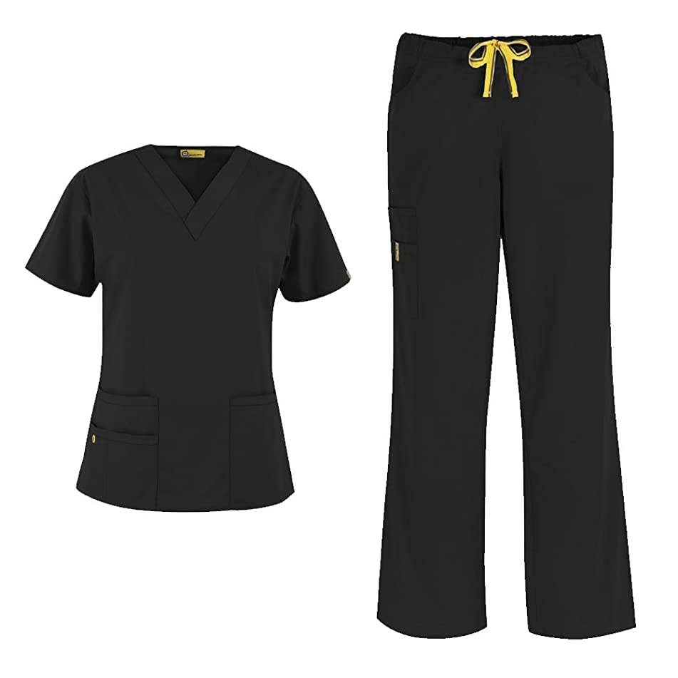 WonderWink Origins Women's 6016 Bravo Top & 5026 Romeo Pant Scrub Set
