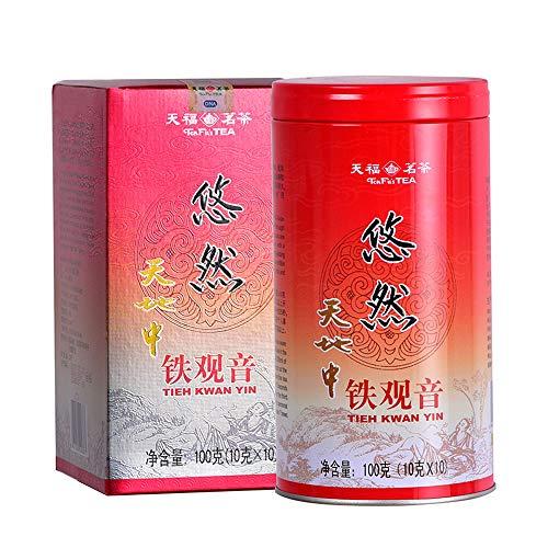 TenFu's TEA TieGuanYin Oolong Tea,3.5oz/100g,WuLong Tea Loose Leaf Wu Long,Origin of AnXi,FuJian,Chinese
