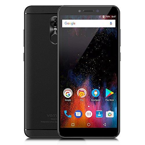 Vernee M6 - 4G LTE Smartphone 5.7 pulgadas de Pantalla Completa 18: 9 Ratio Octa-core 4GB RAM +64 GB ROM 3000mAh Android 7.0 Cámaras Duales 16.0MP + 8.1MP Cuerpo Ultra Delgado WIFI de Huella Digital GPS - Negro