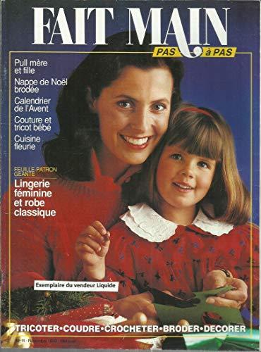 Pull mère et fille - Nappe de Noël brodée - Calendrier avent - couture tricot bébe - Cuisine fleurie - Lingerie féminine et robe classique, etc