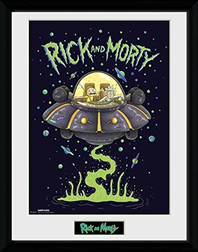 GB Eye Gerahmtes Poster Rick, Morty, Schiff, 30x 40cm, verschiedene