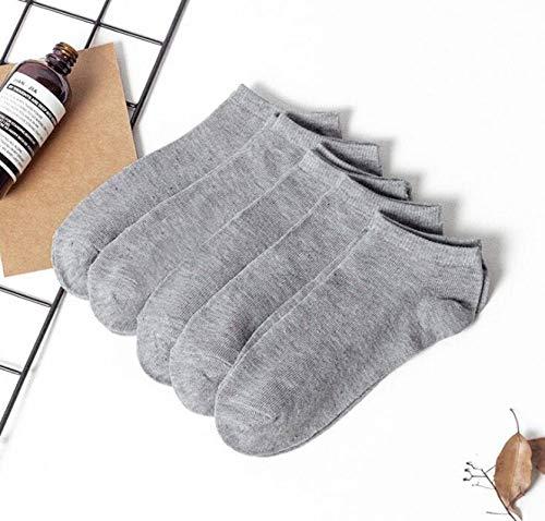N-B 5 par/Lote Calcetines de Color sólido Hombres Mujeres Calcetines Cortos de algodón Unisex Casual Business Calcetín Streetwear