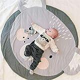 DOTBUY Krabbeldecke für Baby, Krabbeldecke Kinder Kuschelige Cartoon Spielmatte Runde Teppich Baumwolle Crawl für Gym Kinderzimmer Aktivität Dekoration (90cm,Koala)