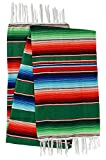 El Paso Designs Mexican Yoga Blanket - 51 x 74 inches - Colorful Studio Mexican Falsa Blanket - Ideal for Yoga, Camping, Picnic, Beach Blanket, Bedding, Home Decor Soft Woven