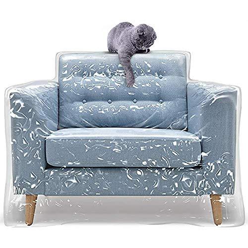 Zoeay Cubierta De Sofá De PláStico para Mascotas,Cubierta De Sofá De PVC Espesada EcolóGica,Cubierta De Sofá Transparente A Prueba De ArañAzos,para Almacenamiento Y Movimiento