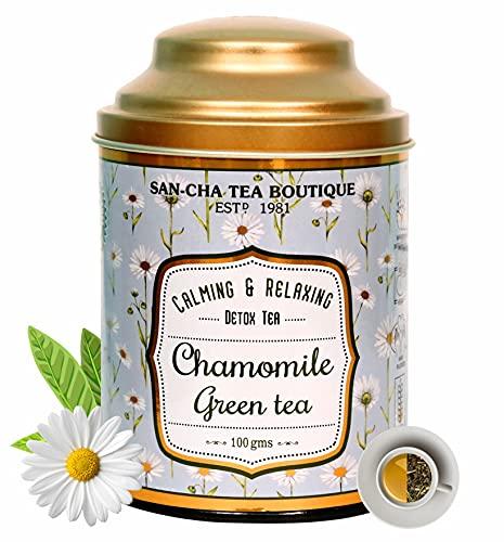 Sancha Tea Boutique Chamomile Green Tea, All Natural (100X3...