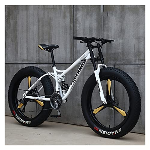 CHICAI Adulto de 26 Pulgadas Montaña Montaña Cross-Couth High-Carbon Beach Bici Snow Bike Ultra-Wire Newer Sports Bike 21-30 Velocidad Bicicleta de Alumnos de Carreras de Baja Velocidad