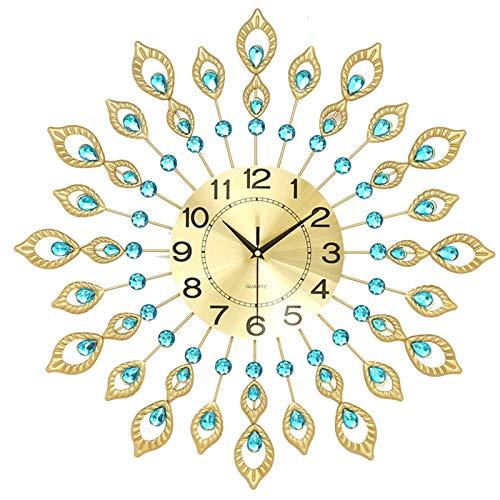 Duan hai rong Relojes de Pared para decoración de Cocina, Decorativos Modernos con Pilas para baño, Sala de Estar, Granja, Estudio, Cocina, Noche sin tictac (Tamaño : Large-60cm-24inch)