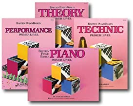 Bastien Piano Basics Primer Level - Learn to Play Four Book Set - Includes Primer Level Piano, Theory, Technic, and Performance Books (Original Version)