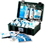 Travel First Aid Kit – Medical First Aid Box – Standard HSE Catering Portable Medical Kit – Ideal for Car/Home/Office/School Emergencies – All Purpose Medical Aide for 10 Persons