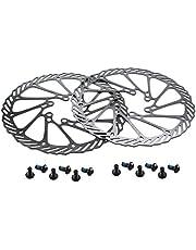 CYSKY Rotor de freno de disco de 160 180 203 mm 2 paquetes Rotor de freno de disco de bicicleta de acero inoxidable 6 pernos para la mayoría de las bicicletas de carretera Bicicleta de montaña BMX MTB