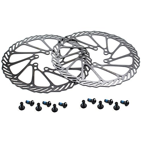 CYSKY 160mm Disc Brake Rotor 2 Packs Stainless Steel Bike Disc Brake Rotor 6 Bolts for Most Bicycle...