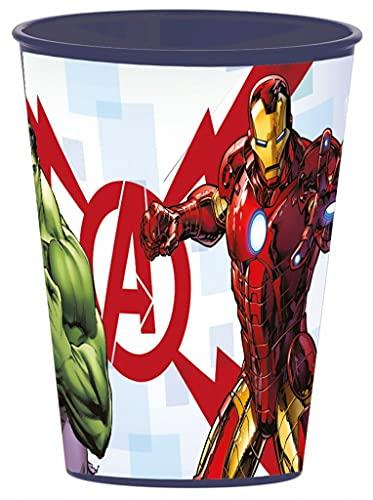 Set di 4 bicchieri con motivo di Marvel Avengers, con immagini di Hulk, Iron Man e Captain America