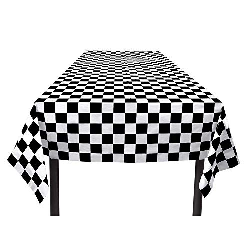 2 Tone/Ska Chequered Black and White Table Cloth.