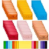 Binjor 70Pcs Buste con chiusura a farfalla di Carta Kraft Buste Cartoncini colorati augurali ufficio Busta Regalo colorate mini buste per carta regalo compleanno compleanno festival del ringraziamento