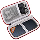 Lacdo Hard Carrying Case for SanDisk Extreme PRO Portable External SSD SDSSDE80 SDSSDE81 500GB 1TB 2TB 4TB USB-C Solid State Drive EVA Shockproof Water Repellent Protective Storage Travel Bag, Black