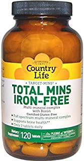 Country Life Target Mins Iron-free Total Mins Multi-mineral Complex, 120-Count