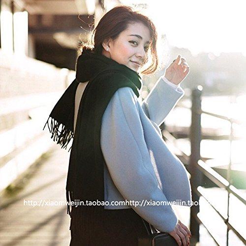 ABYABY Colore Solido Imitazione Cashmere Sciarpa in Autunno e Inverno, Extra-Spesso Scialle Sciarpa   Ladies Sciarpa