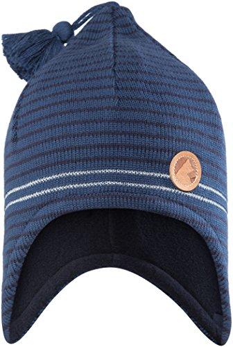 FINKID Jungen Zipfelstrickmütze / Mütze TIPU 6031115 in blau (denim/navy 113100), Kleidergröße:46;Farbe:blau (denim/navy 113100)