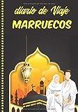 Diario de Viaje Marruecos: Cuaderno Diario,Notebook 108 páginas ILUSTRADAS Libro de Actividades de Vacaciones a Rellenar, Libro de Seguimiento de Viajes, Regalo Para Ofrecer. Made in Spain.