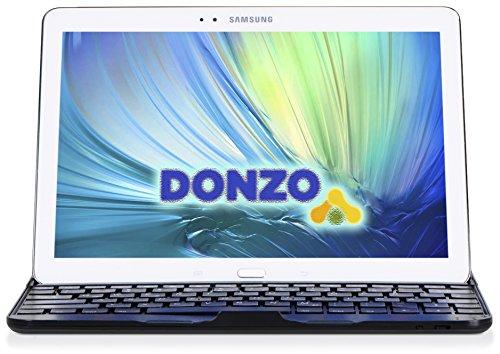 DONZO Case inkl. QWERTZ Bluetooth Tastatur für Samsung Galaxy Tab 4 T530 & T535 10.1 - Schwarz