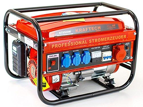 Benzin Stromerzeuger, Benzin Generator KT-8500W mit 3.0 kW Dauerleistung für Gartenbereich sowie Freizeit- und Campingaktivitten.