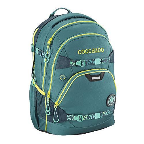 """coocazoo Schulrucksack e-ScaleRale """"TecCheck Petrol"""", blau, ergonomischer Tornister, höhenverstellbar, mit Brustgurt und elektrischem Hüftgurt, ab der 5. Klasse"""