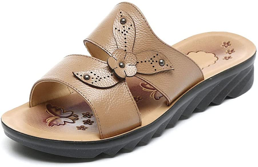 Kirin-1 Fuzzy Slippers Women Large Size Outd Flat Leather SEAL limited product outlet Summer