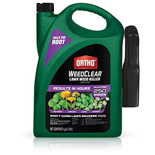 Ortho WeedClear Lawn Weed Killer Ready to Use1 - Broadleaf Weed Killer for Lawns, Weed Killer Spray, Kills Dandelion, Clover, Chickweed, Dollarweed & More, Kills to the Root, Results in Hours, 1 gal.