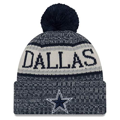 New Era ONF18 Sport Knit Bommelmütze Dallas Cowboys Blau, Size:ONE Size