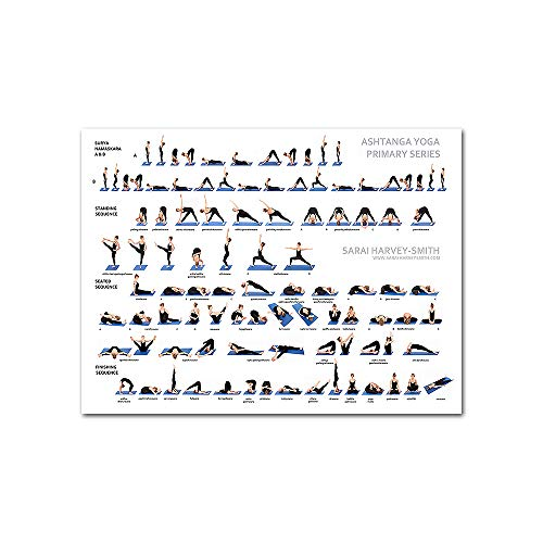 YGYT Sports Canvas Wall Art for Ashtanga Yoga Primary Series Chart Nordic Poster on Canvas for Home Gym I Unframed I 24x32 inches