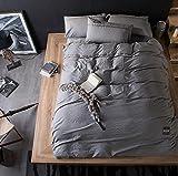 zb-sianjiantao Estilo japonés 3D de Cama Cuatro Conjuntos de algodón Lavado de algodón Hojas de Cama de Color Puro (1,5 M - 2M para Cama), 11, 200 * 230