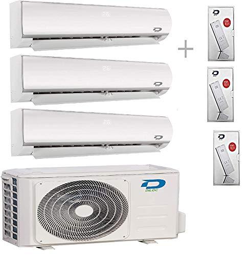 Diloc Frozen - Aire acondicionado MultiSplit Wifi, climatizador Inverter 6,1 kW Trial Gas R32 D.FROZEN360 (9+9+12) D.FROZEN9 x 2 + D.FROZEN12)