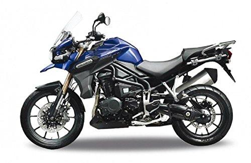 DieCast Modell Motorrad TRIUMPH TIGER EXPLORER blau metall Welly Motorradmodell 1:18