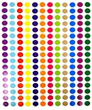 Tag-A-Room 1/2 Inch Round Color Coding Circle Dot Sticker Labels, 12 Bright Colors, 8 1/2' x 11' Sheet (2040 Pack)