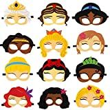 Princess Felt Masks for Kids Princess Role Theme Birthday Party Favor Cosplay Party Supplies