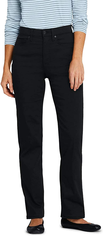 Lands' End Women's Tall High Rise Straight Leg Black Jeans