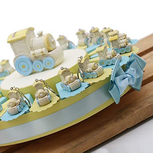 Torta Bomboniere Battesimo Magico Trenino per Bimbo Confettata 20 Bomboniere (TR1112P)