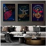 HYFBH Muslimische Tanzmädchen Arabische Kalligraphie Kunst