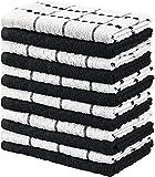 Utopia Towels - 12 Toallas de Cocina, paños de Cocina (38 x 64 cm, Blanco y Negro)