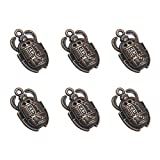 FENICAL 20pcs Vintage Egyptian Scarab Pendant Charms DIY Jewelry Making Accessories for Necklace Bracelet (Copper Red)